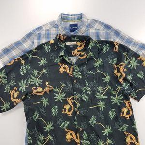 Tommy Bahama 100%Silk Short Sleeve Hawaiian Shirt